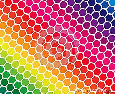 Spectrum colors in geometric blocks