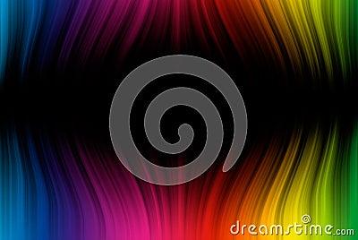 Spectrum lines on black