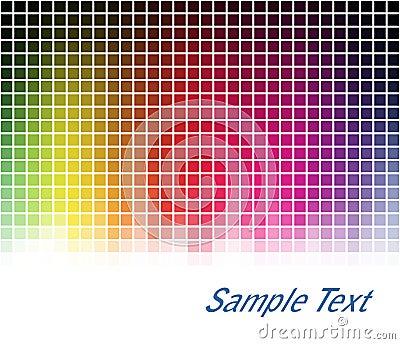Spectrum mosaic background