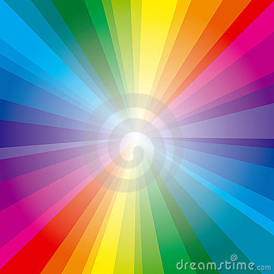 Spectrum rays background