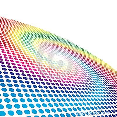 Spectrum spiral circle pattern