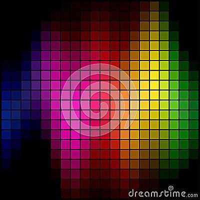 Spectrum spot mosaic