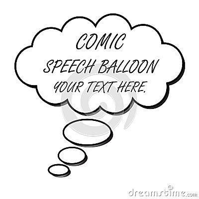 Speech balloon (vector)