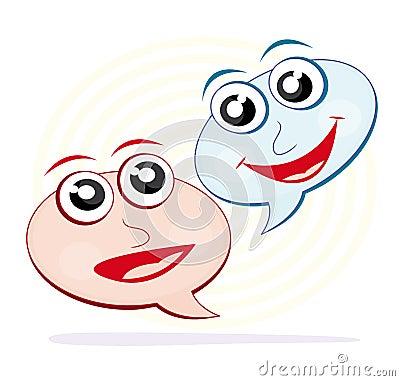 Speech bubble cartoons