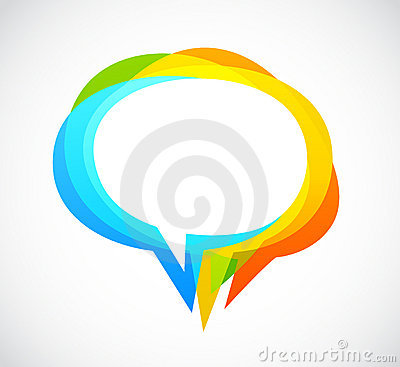 Free Speech Bubble - Colorful Abstract Background Stock Images - 20110074