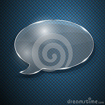 Speech bubble from glass