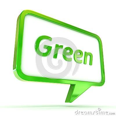 Speech Bubble Green