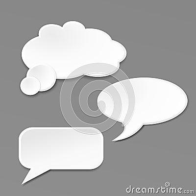 Speech bubble on grey background