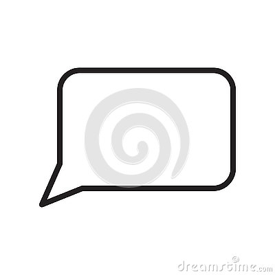 Speech bubble icon vector sign and symbol isolated on white background, Speech bubble logo concept , outline symbol, linear sign Vector Illustration