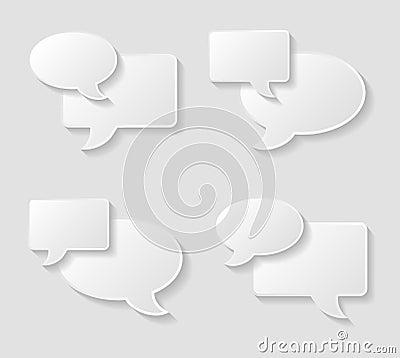 Speech bubble icons set