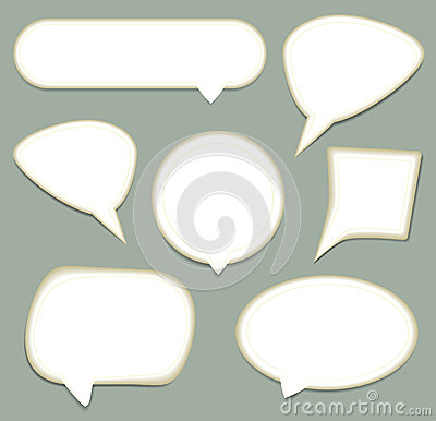 Speech Bubble set.