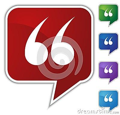 Speech Bubble Set - Quotes