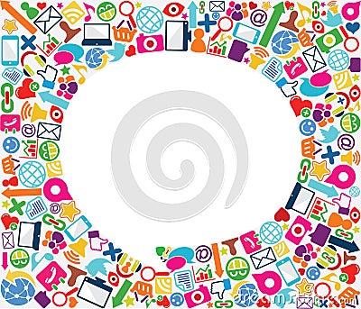 Speech bubble social icon background