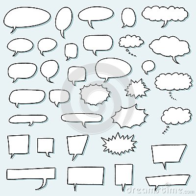 Speech bubble set Vector Illustration