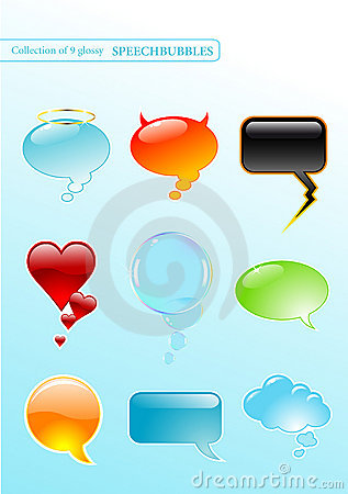 Free Speech-bubbles Royalty Free Stock Photography - 5616027
