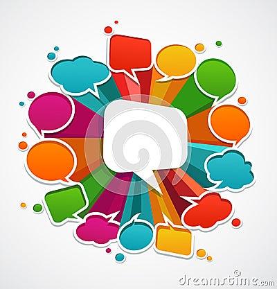 Speech bubbles background