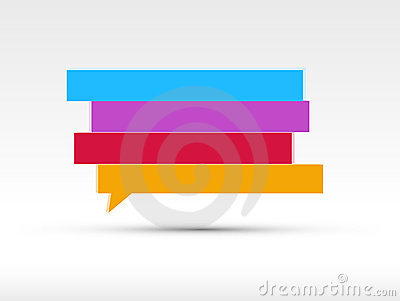 Speech bubbles banner