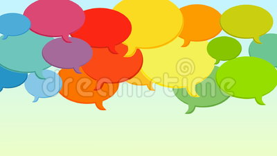 Speech bubbles cloud looping animation stock footage