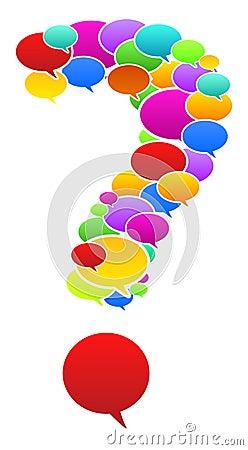 Speech Bubbles In Question Mark Shape