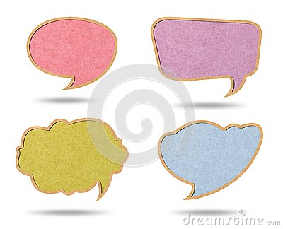 Speech bubbles from Recycle Paper