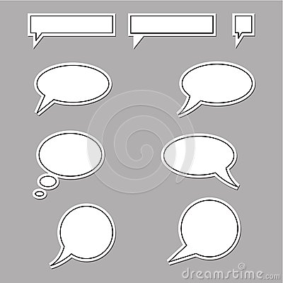 Speech bubbles round and square