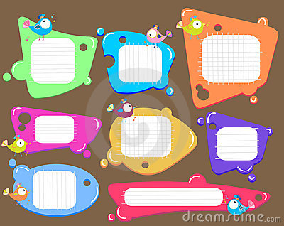 Speech bubbles set, color