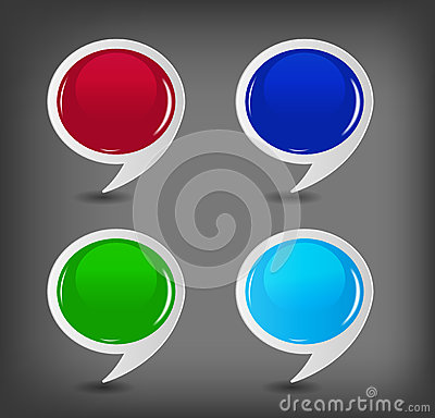 Speech bubbles set vector illustration