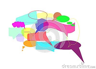 Speech bubbles, Vector