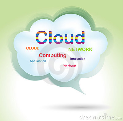 Speech cloud bubble