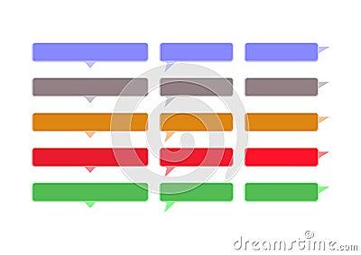 Speech colored bubbles