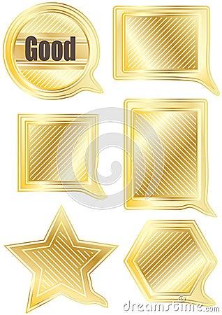 Speech Gold Shape Set_eps
