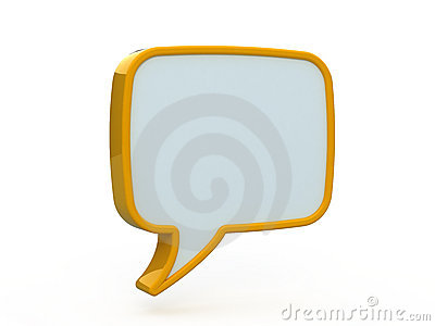 Speech icon 3d