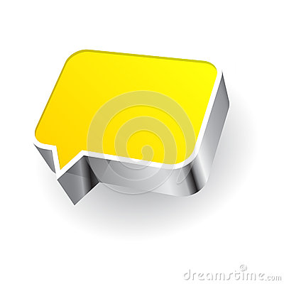 Speech icon  on white background