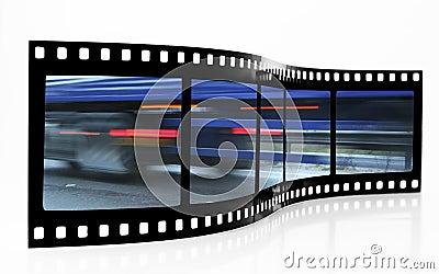 Speed Blur Film Strip