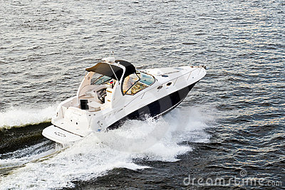Speed-boat Stock Photo - Image: 3528540