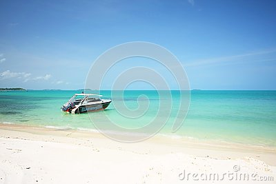 Speed boat on the beach of samed island
