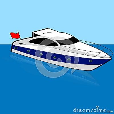 Speed boat Vector Illustration