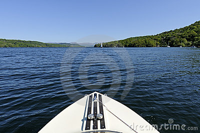 Speed Boat on Lake Windermere
