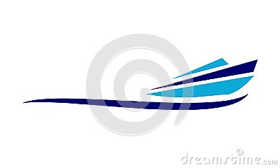 Speed Boat Vector Illustration
