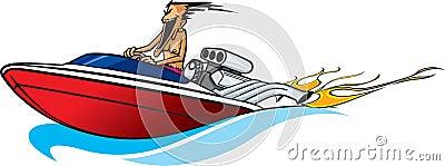 Speed boat maniac Stock Photo