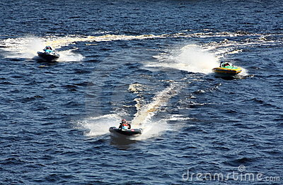 Speed boat race. Editorial Photography