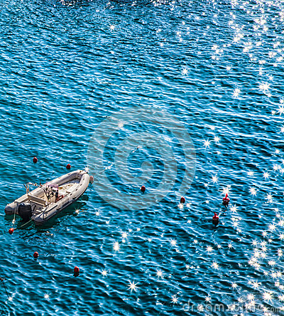 Speed Boat and Sea