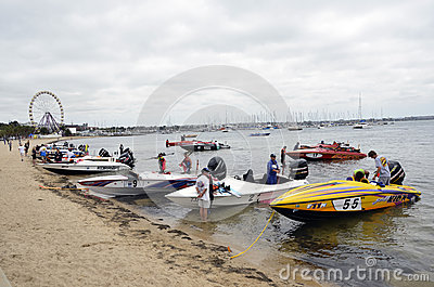 Speed Boats. Editorial Photo