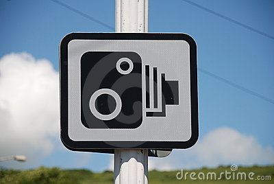 Speed camera sign, Folkestone