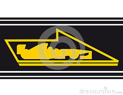 Speed car flag