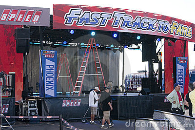 Speed Channel Fast Track to Fame stage Editorial Stock Photo
