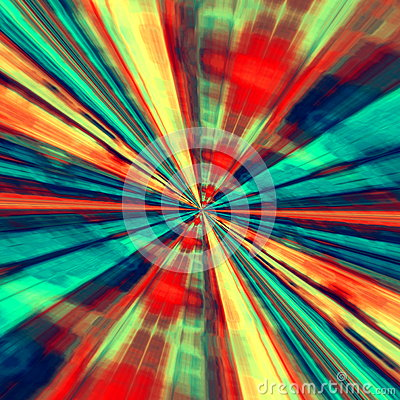 Free Speed Concept. Abstract Digital Art. Blue Red Background. Fractal Tunnel. Futuristic Fantasy Illustration. Modern Artistic Design. Royalty Free Stock Photo - 52651565
