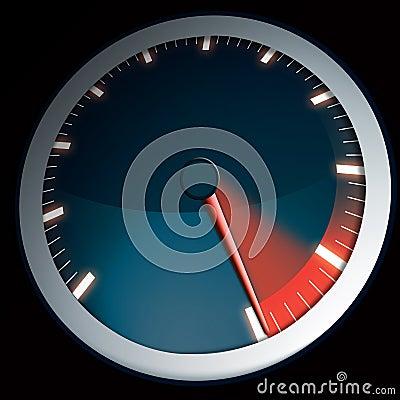 Speed dial for a car maximum power