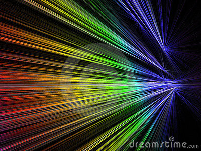 Speed fractal in rainbow color