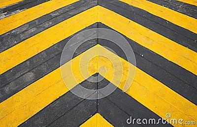 Speed hump road marking